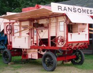 photograph: Ransomes, Sims & Jefferies 54 Tractor thrashing machine, built 1947, restored by Chiltern Open Air Museum volunteers August 2006 – October 2008