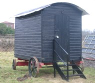 photograph: Gressenhall Farm & Workhouse: Museum of Norfolk Life. Replica hut used for activities © Rural Museums Network