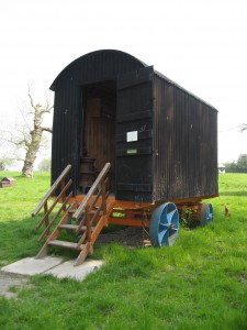 Shepherd's hut at Acton Scott Historic Working Farm © Rural Museums Network