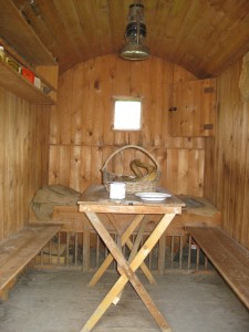 Inside the Acton Scott hut © Rural Museums Network
