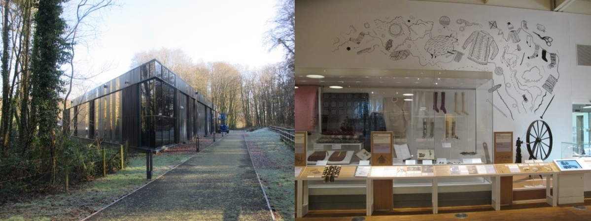 Gweithdy – the making centre building and displays at St Fagans