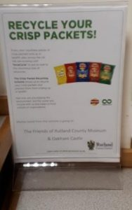 Recycle your crisp packets display at Rutland County Museum
